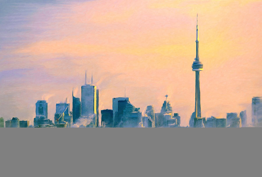 Cold Toronto Morning Painting