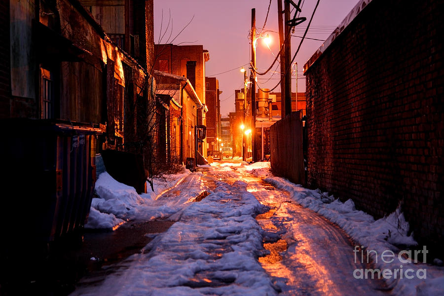 Alley Photograph - Cold Urban Alleyway by Denis Tangney Jr