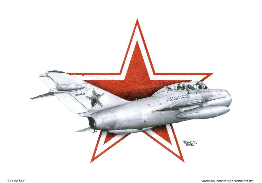 Mig 15uti Drawing - Cold War Relic by Trenton Hill