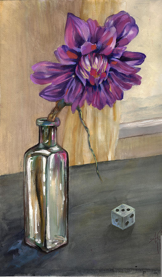 Floral Painting - Cold Window by Anji Marth