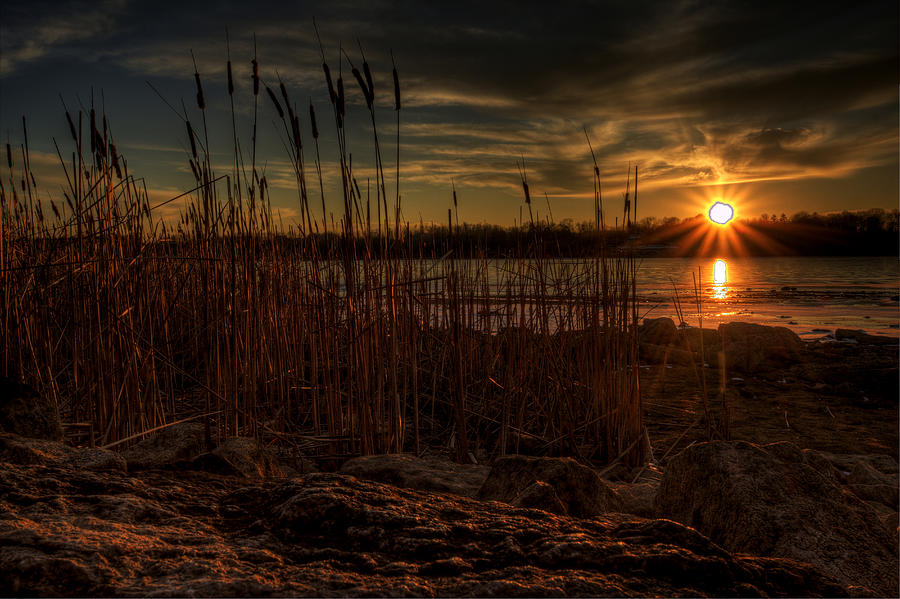 Guilford Lake Photograph - Cold Winter Sunset by David Dufresne