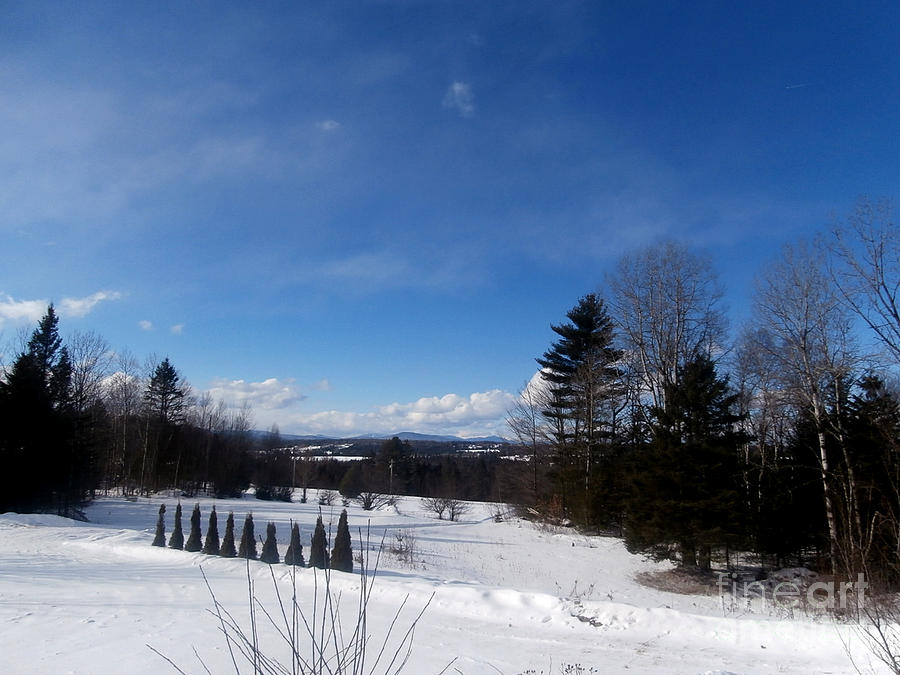Vermont Landscape Photography Photograph - Cold Winters Day by Steven Valkenberg