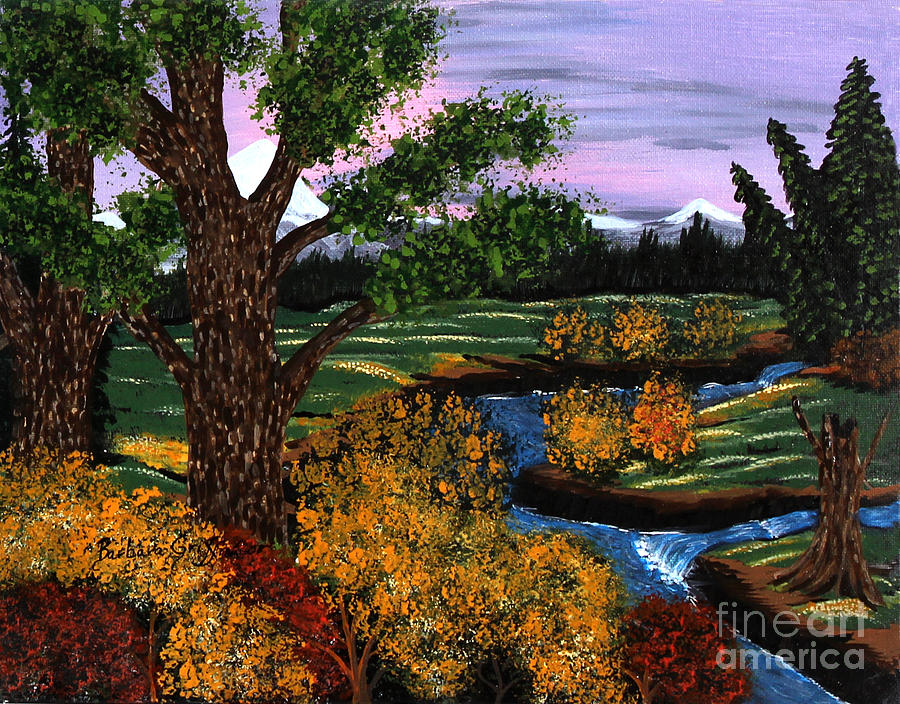 Mountain Brook Painting - Coldest Mountain Brook by Barbara Griffin