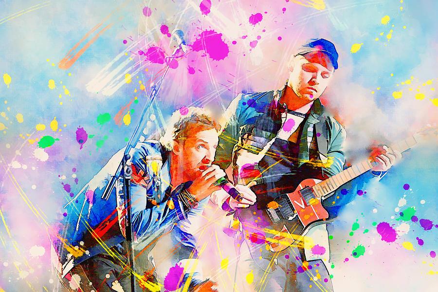 Coldplay Painting By Rosalina Atanasova