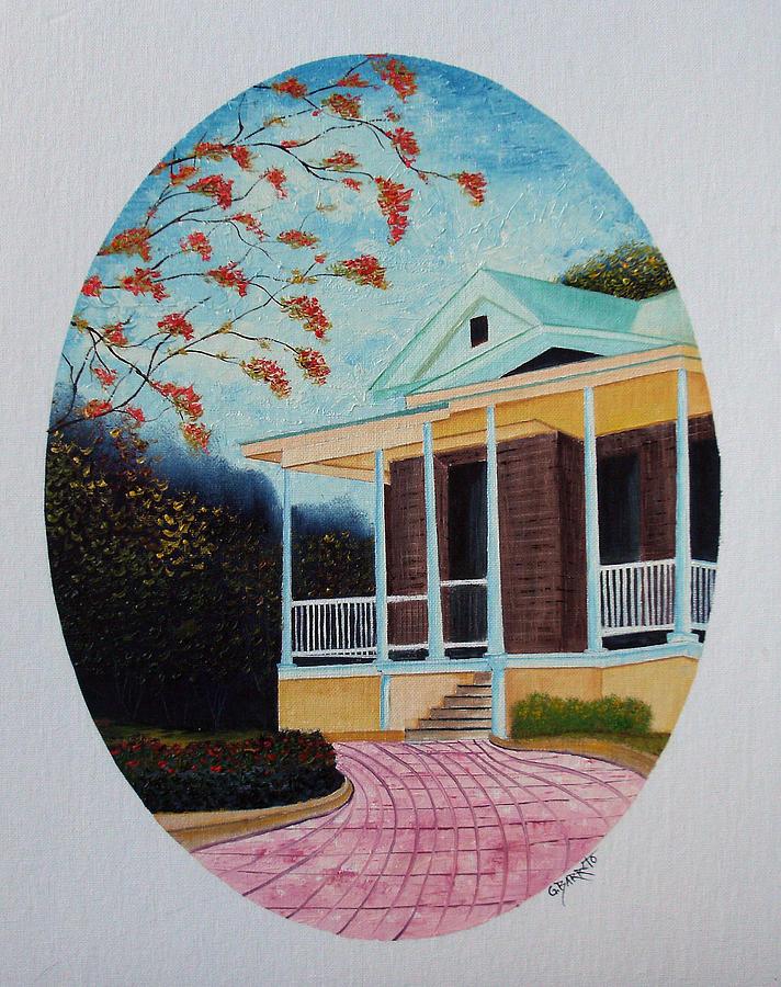 Colegio Painting - Colegio De Arquitectos En Pr by Gloria E Barreto-Rodriguez