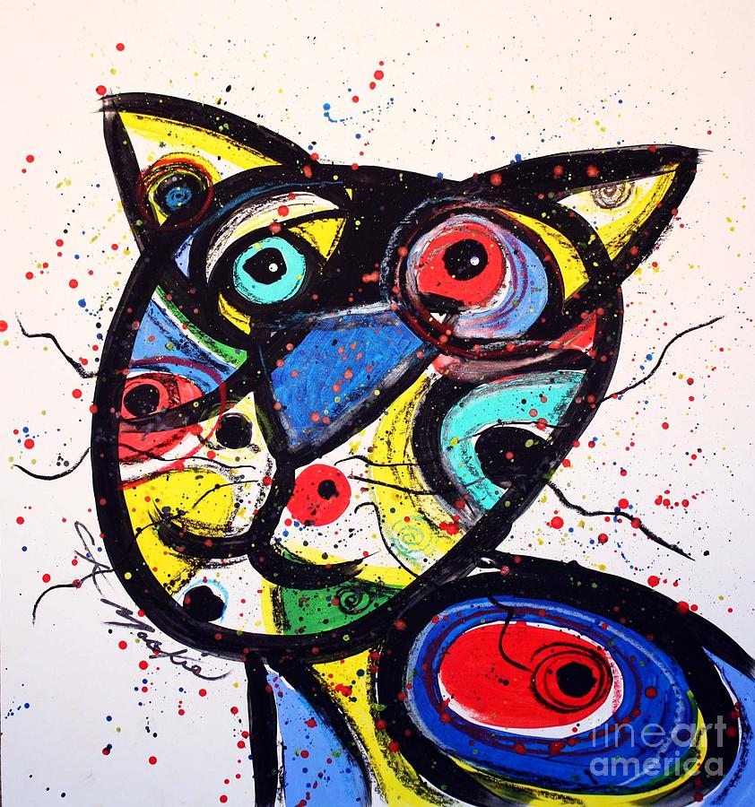 Cat Painting - Colin by Chris Mackie