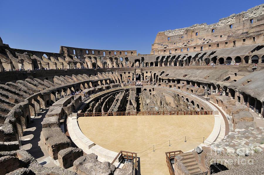 Built Structure Photograph - Coliseum . Rome by Bernard Jaubert