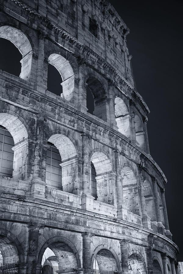 Joan Carroll Photograph - Colosseum Before Dawn by Joan Carroll