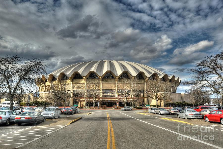 The Wvu Coliseum Is A 14 Photograph - Coliseum Daylight Hdr by Dan Friend