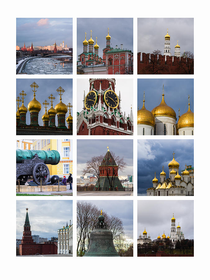Annunciation Photograph - Collage Moscow Kremlin 1 - Featured 3 by Alexander Senin
