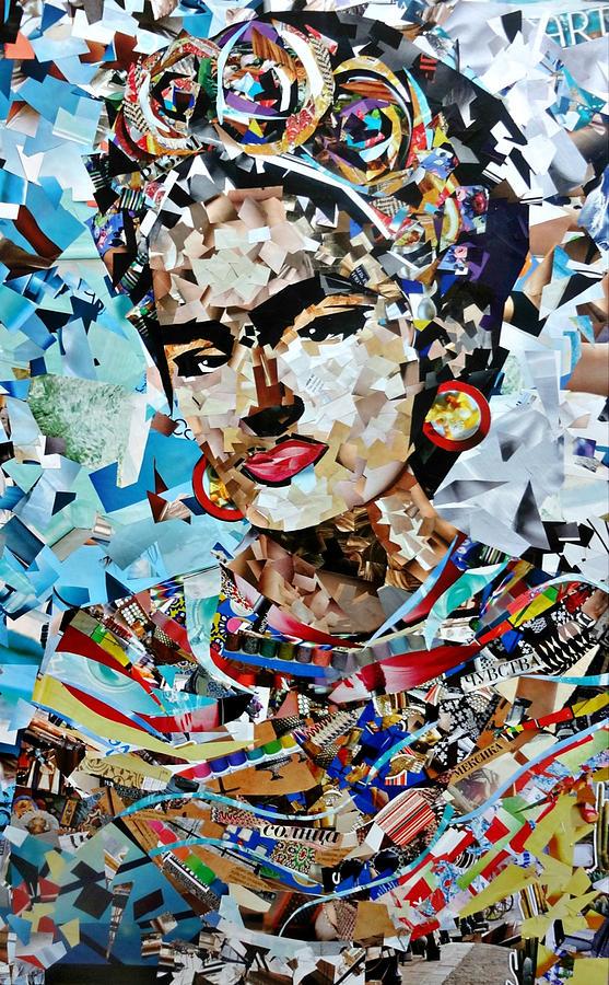 Collage Painting Frida Kahlo Painting By Irina Bast