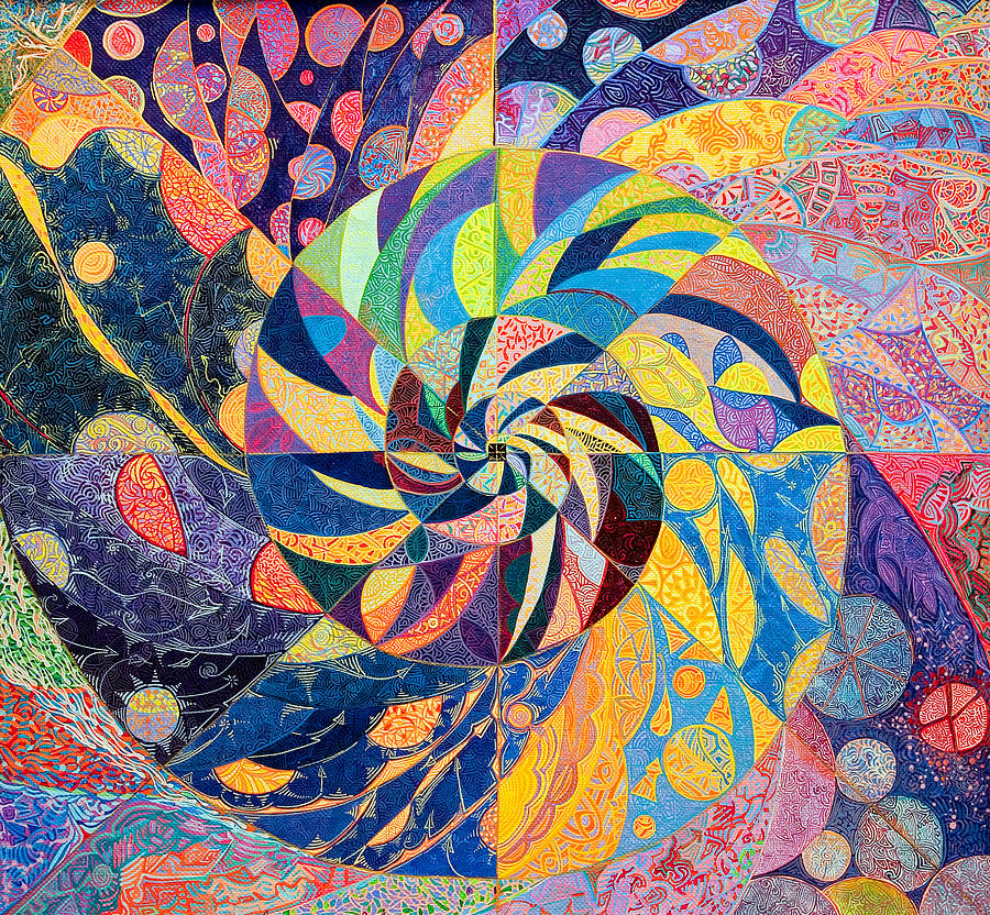 Cosmism Painting - Collapse of the Universe by Lola Lonli