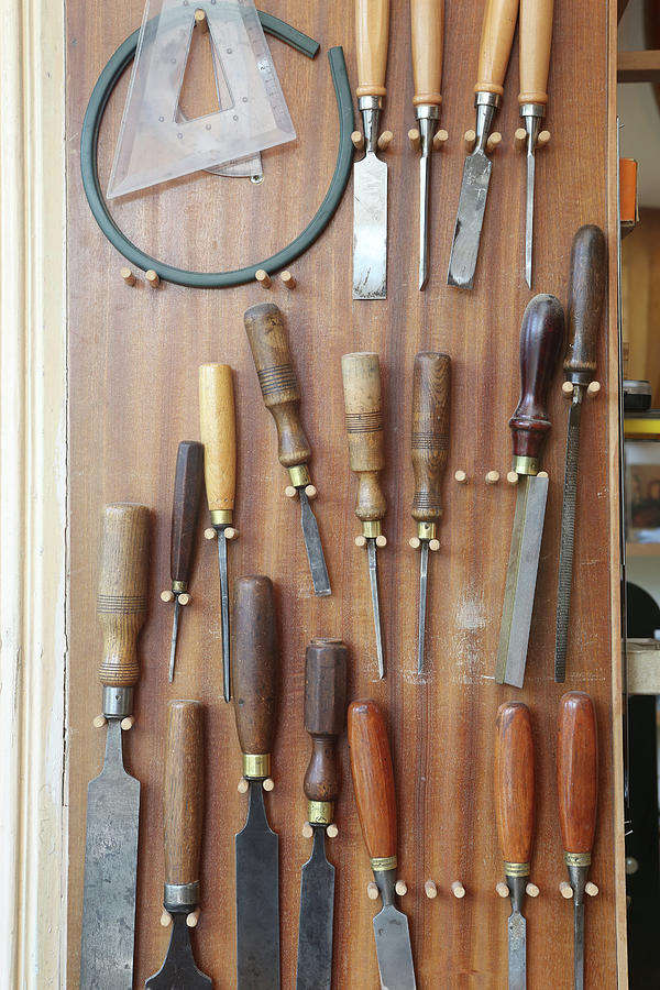 Collection Of Chisels In A Workshop Photograph by Nicola Tree