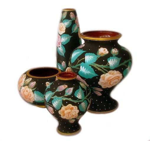 Ceramic Ceramic Art - Collection Of Vases Floral  by Alexsandr Lovchikov