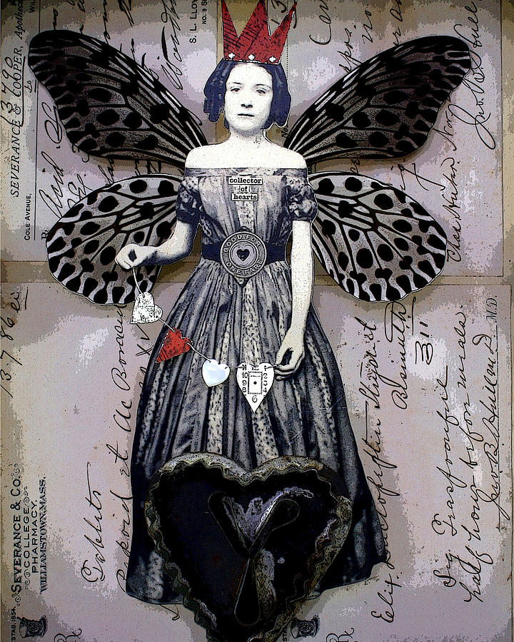 Butterfly Mixed Media - Collector Of Hearts by Stephanie Rubiano