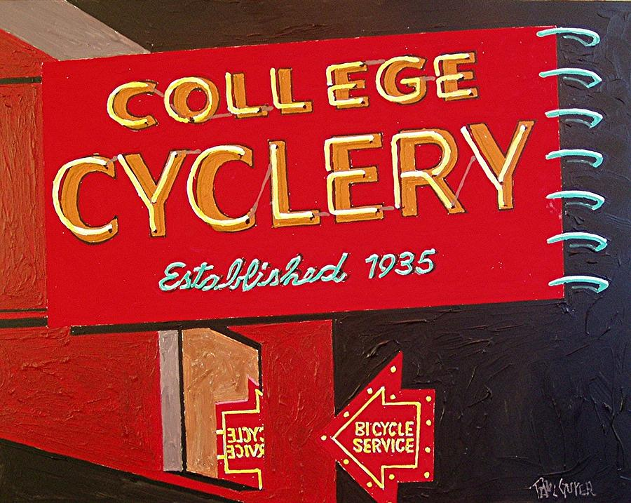 Sacramento Painting - College Cyclery by Paul Guyer