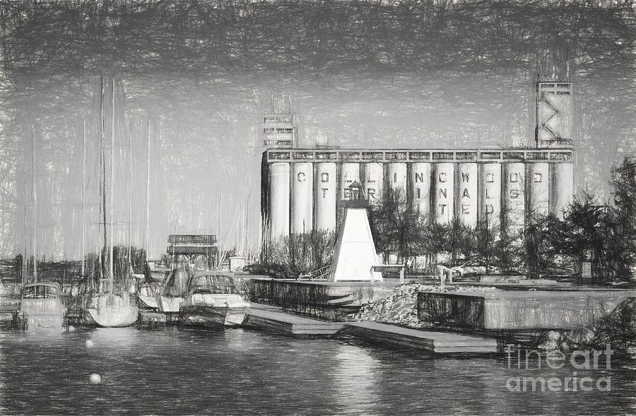 Collingwood Photograph - Collingwood Terminals In Old Days by Les Palenik