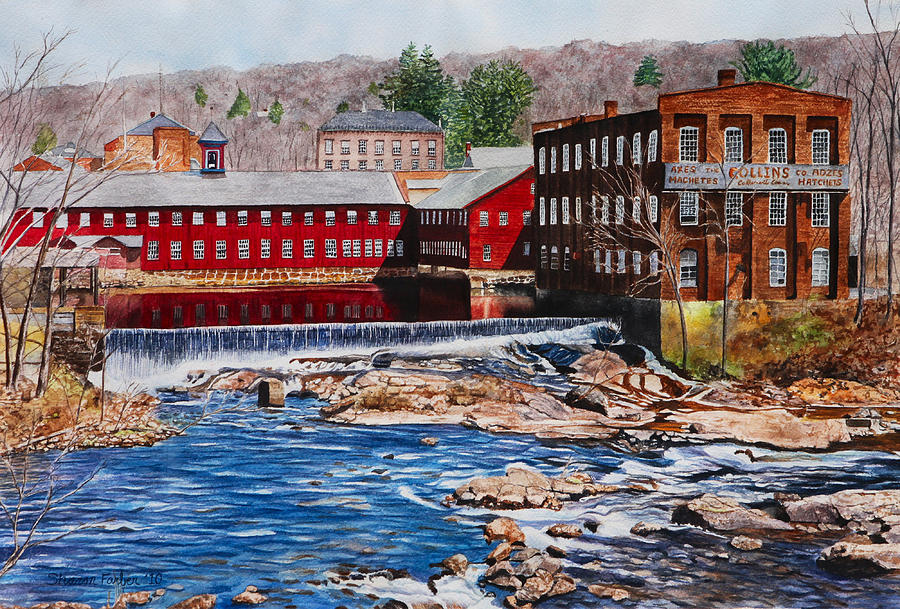 Landscape Painting - Collinsville Axe Factory by Sharon Farber