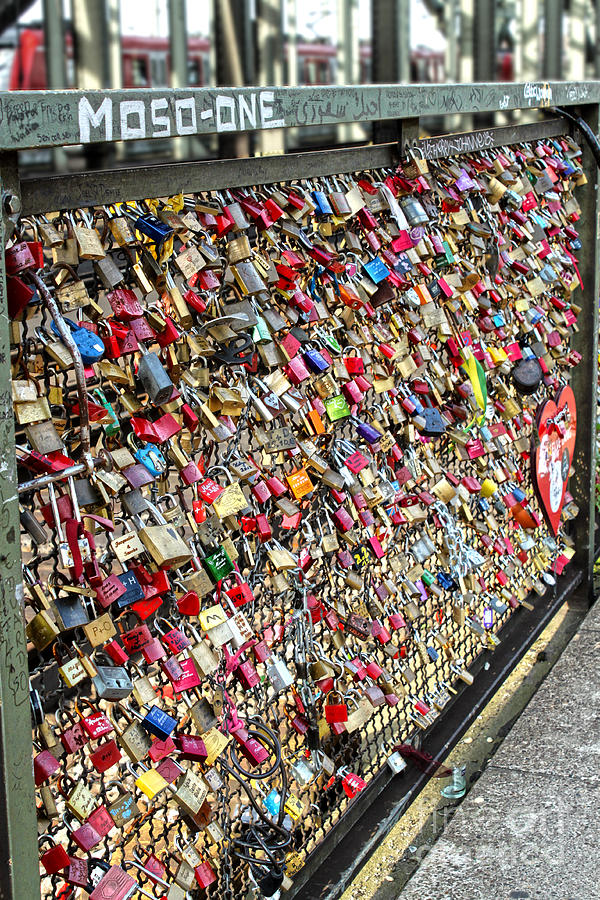 Cologne Photograph - Cologne - Hohenzollern Bridge - Gypsy Locks - 02 by Gregory Dyer