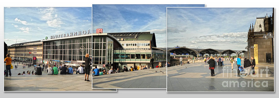 Cologne Photograph - Cologne Central Train Station - Koln Hauptbahnhof - 01 by Gregory Dyer