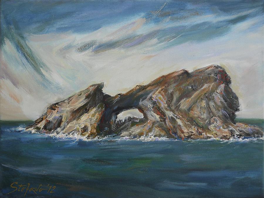 Traditional Digital Art - Colombretes Island II by Stefano Popovski