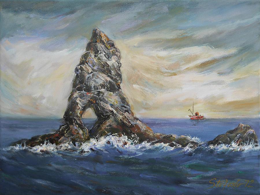 Traditional Digital Art - Colombretes Island by Stefano Popovski