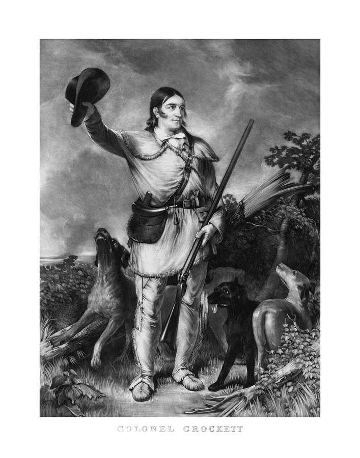 Davy Crockett Drawing - Colonel Davy Crockett by War Is Hell Store