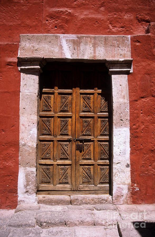 Peru Photograph - Colonial Door Arequipa Peru by James Brunker