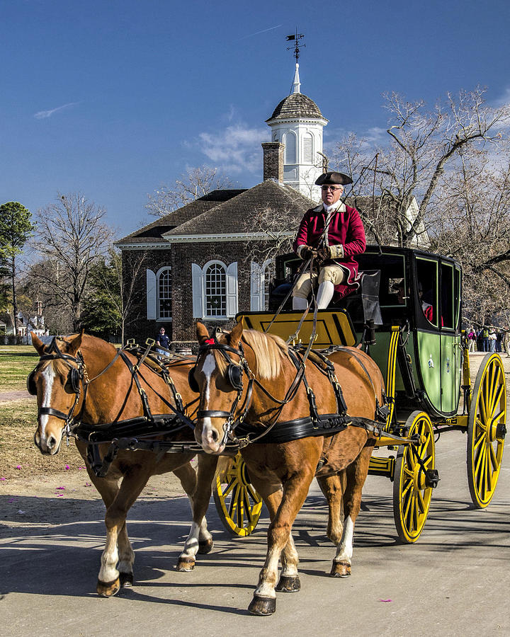 Carriage Photograph - Colonial transportation by Gene Myers