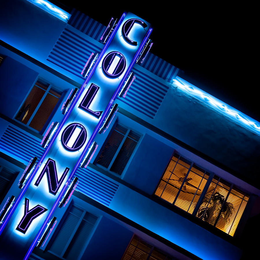 Art Deco Photograph - Colony Hotel 1 by Dave Bowman