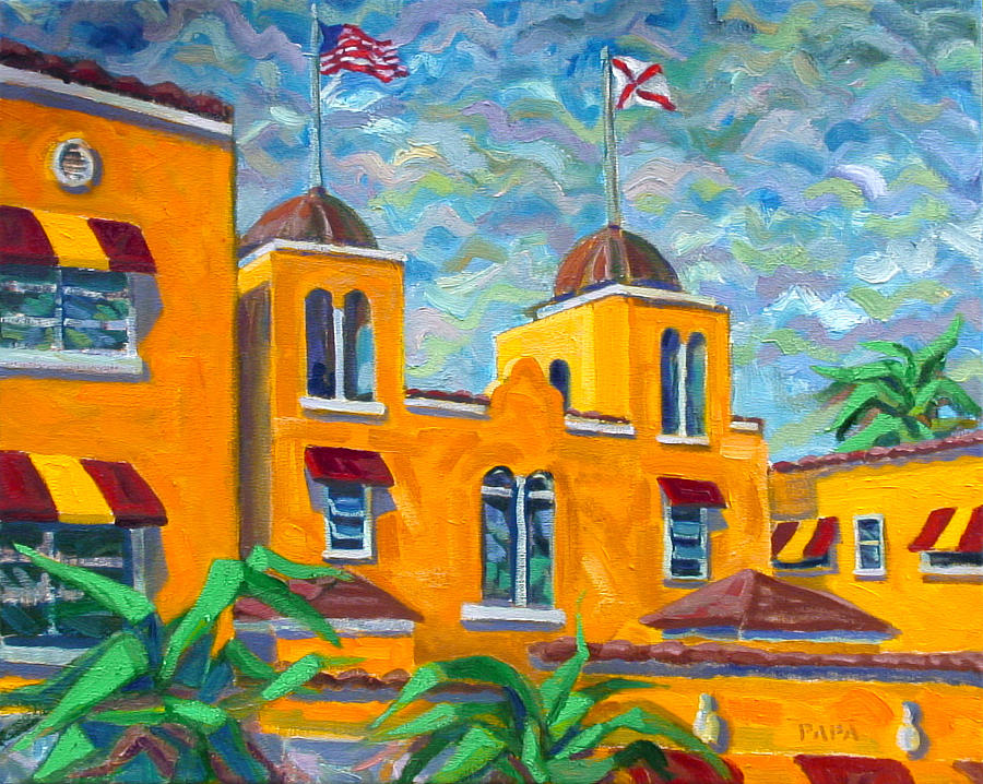 Colony Hotel Painting - Colony Hotel at Delray by Ralph Papa