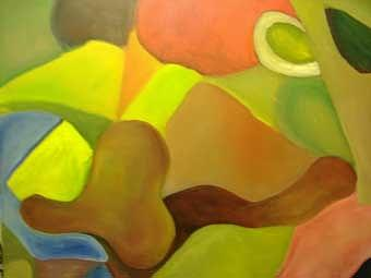 Color And Shapes Painting by Temeisha