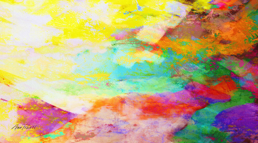 Color Burst Abstract Art Mixed Media By Ann Powell