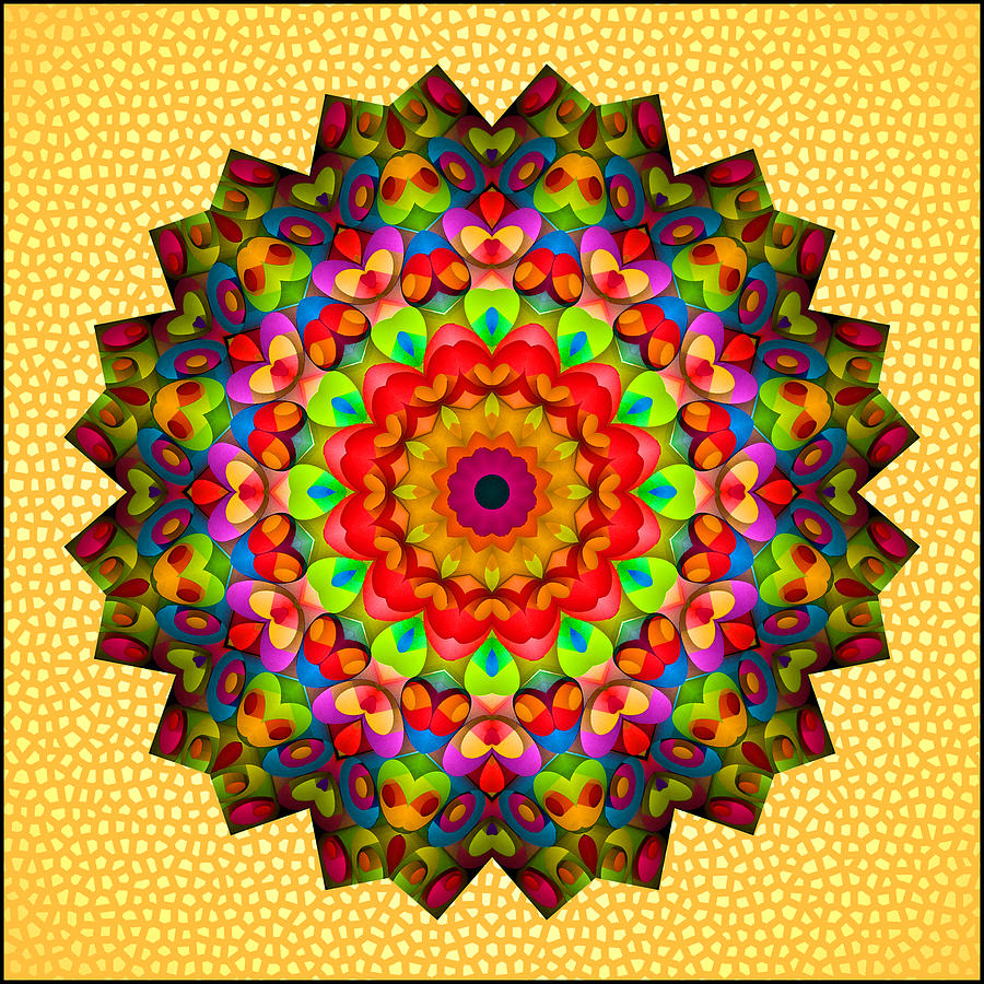 Kaleidoscope Photograph - Color Circles Kaleidoscope by Liz Mackney