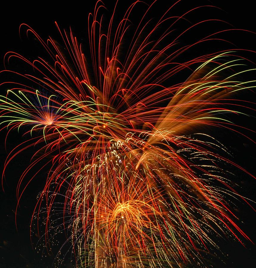 Fireworks Photograph - Color Design by Optical Playground By MP Ray