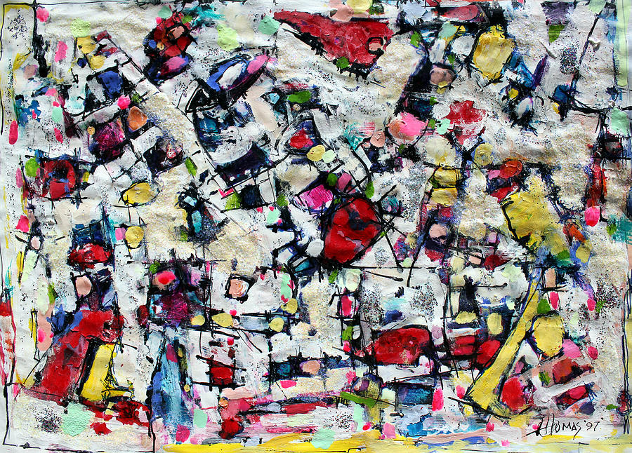 Abstract Painting Painting - Color Fest Of Love by Hari Thomas