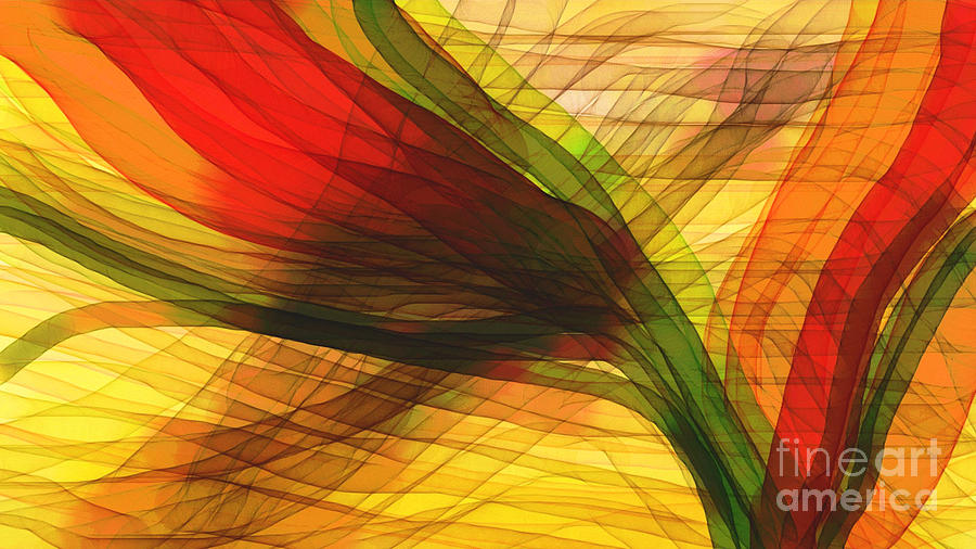 Abstract Painting - Color Flow by Hilda Lechuga
