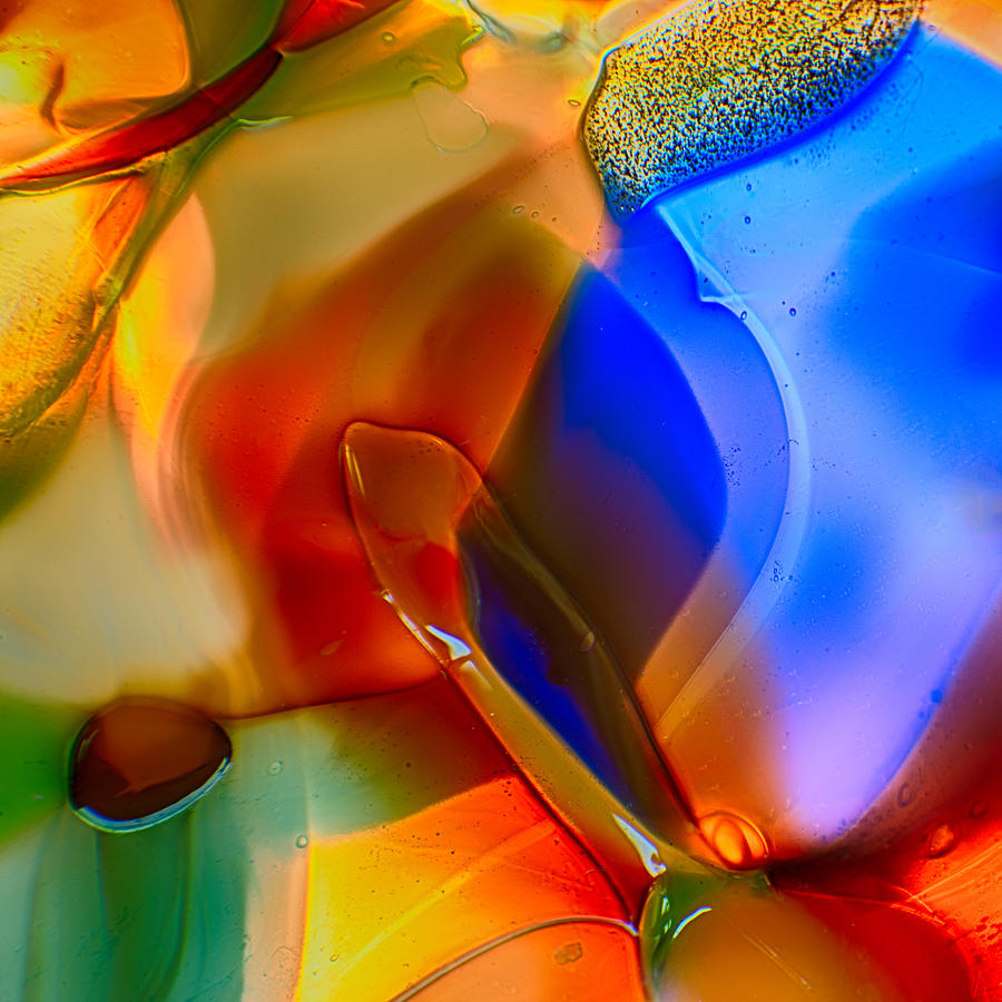 Glass Photograph - Color Friends by Omaste Witkowski