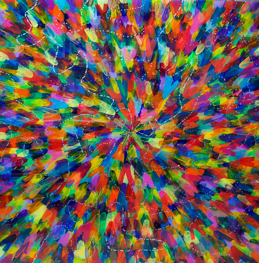 Color Implosion Painting by Patrick OLeary