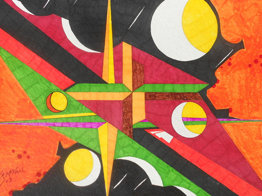 Abstract Painting - Color In Time by Willie McNeal