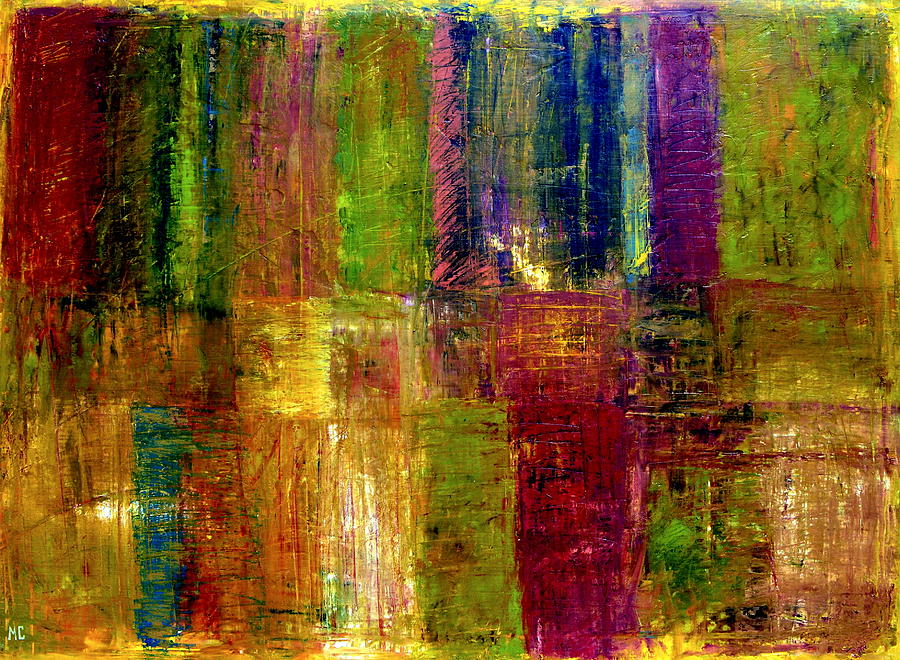 Abstract Painting - Color Panel Abstract by Michelle Calkins