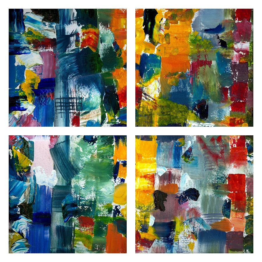 Abstract Collage Painting - Color Relationships Collage by Michelle Calkins