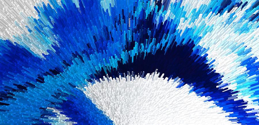 Digital Digital Art - Color Shock 2 - Vibrant Digital Painting Art by Sharon Cummings