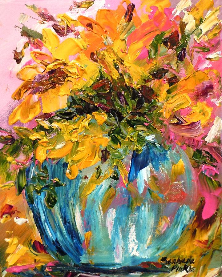 Flowers Painting - Color Splash by Barbara Pirkle