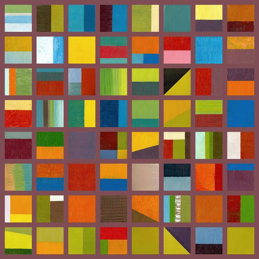 Abstract Painting - Color Study Collage 65 by Michelle Calkins