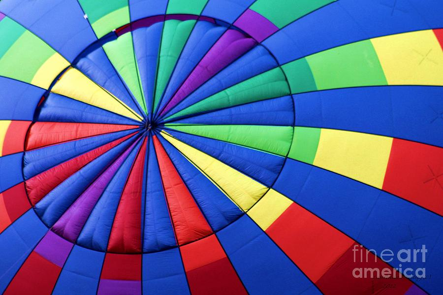 Ballon Photograph - Color Wheel by Laurinda Bowling