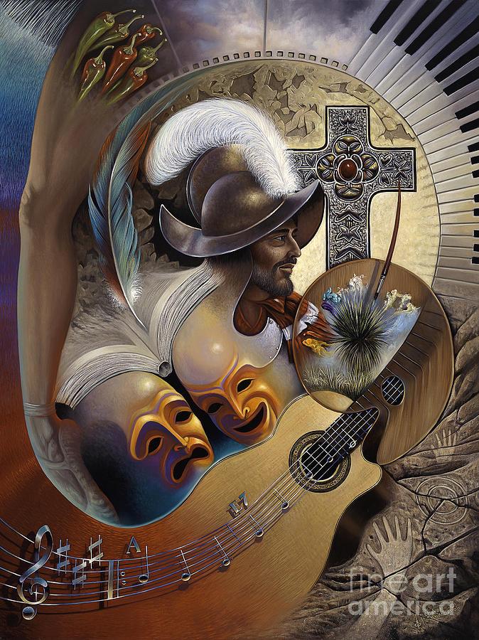 Color y Cultura Painting by Ricardo Chavez-Mendez