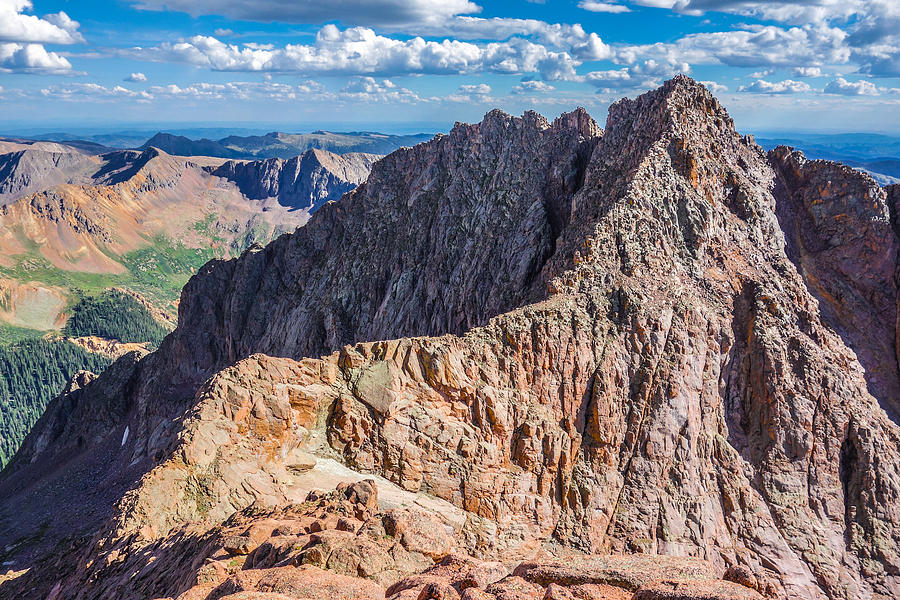Climbing Photograph - Colorado 14er Mt. Eolus And The Sidewalk In The Sky by Aaron Spong