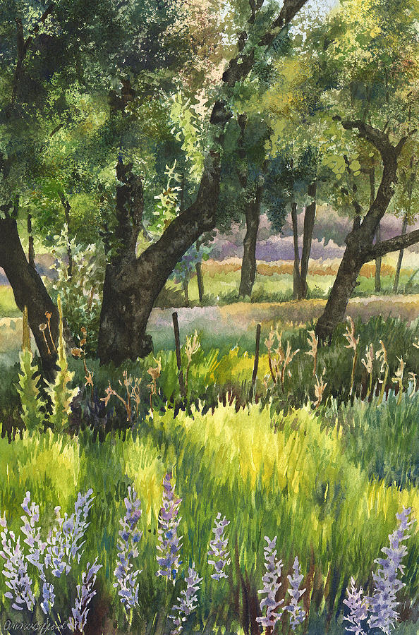 Green Painting Painting - Colorado Evening Shadows by Anne Gifford
