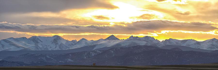Colorado Photograph - Colorado Front Range Panorama Gold by James BO Insogna